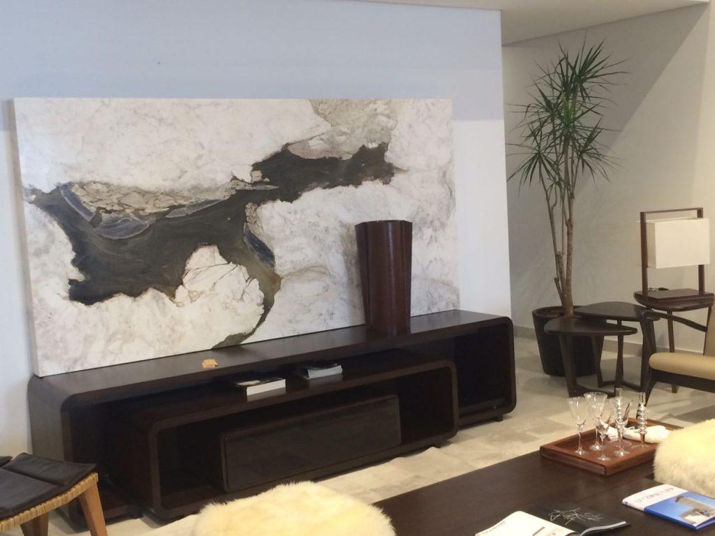 Revestimento de parede em marmore branco Macchiaveccia