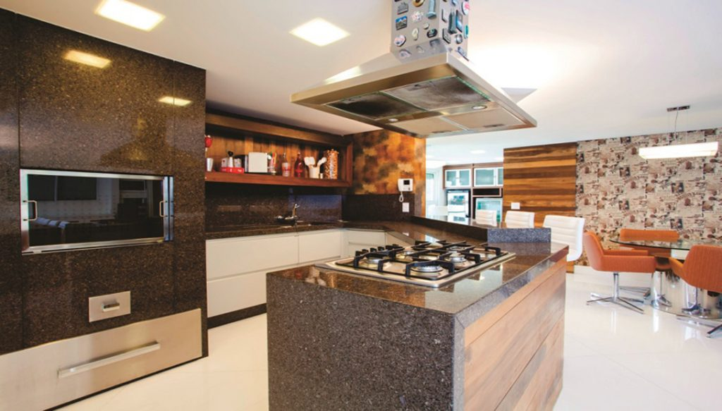 Cozinha Americana - Granito Café Imperial