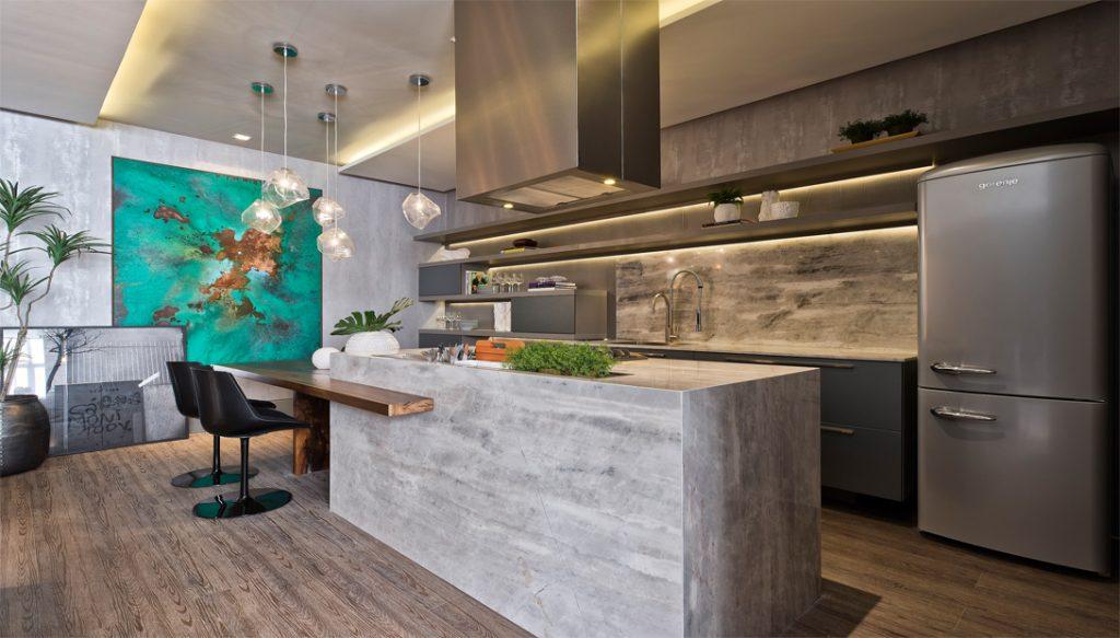 Cozinha americana - Projetos em marmore e granito