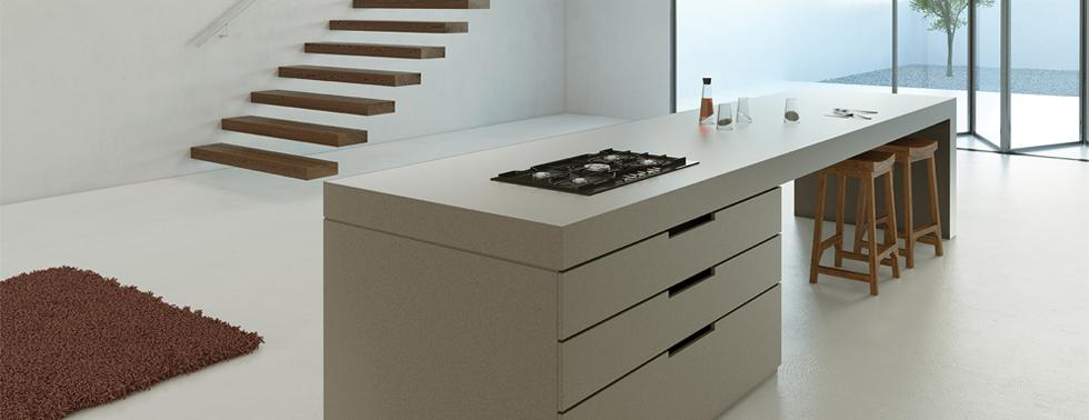 Sleek Concrete - Bancada cozinha