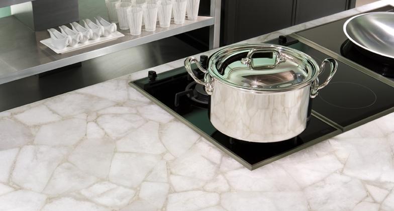 White Quartz Caesarstone - Bancada de cozinha
