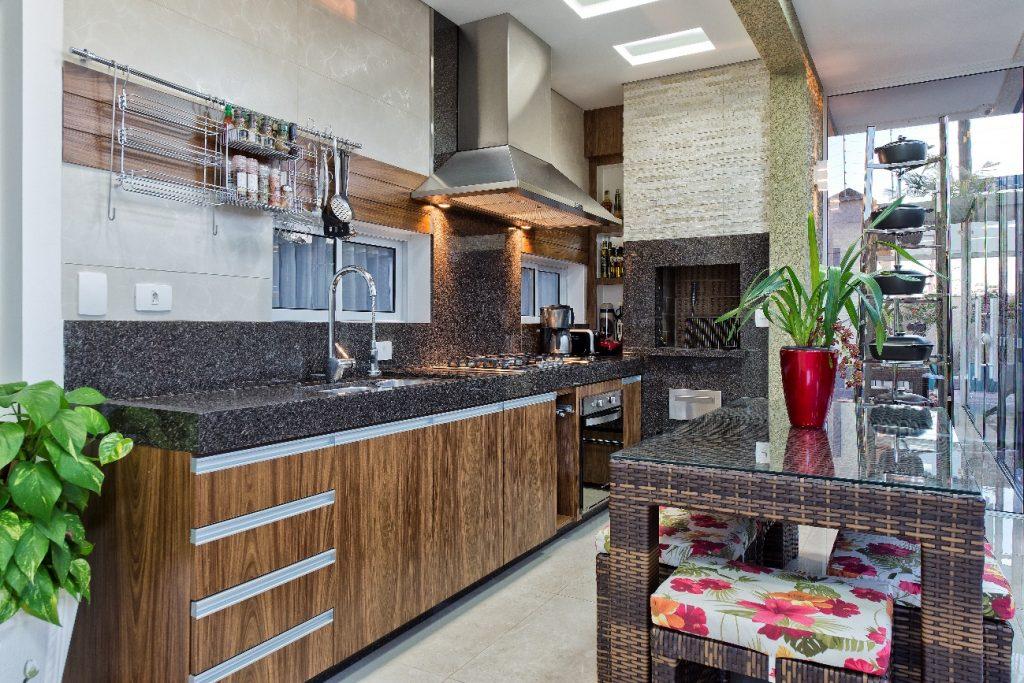Cozinha em granito cafe imperial