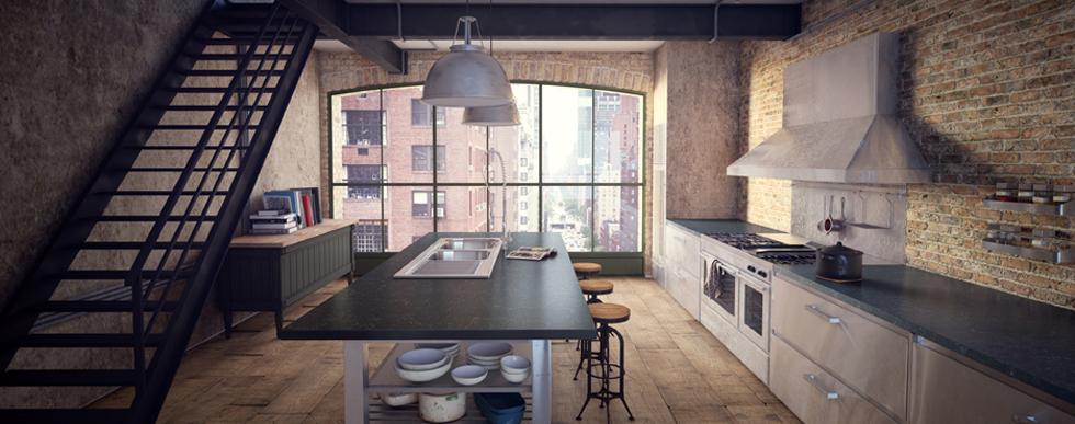 Cozinha em Piatra Grey - Superfície de quartzo
