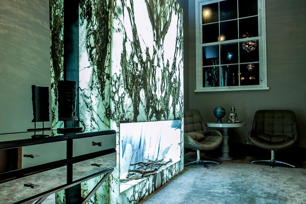 lareira em mármore pietrafina