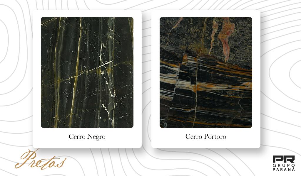 cores de mármore pretos